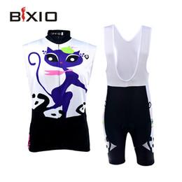BXIO Brand Women Cycling Clothing Sets Sleeveless Wielerkleding Road Bike Jersey Roupas De Ciclismo Feminina BX-0309P044