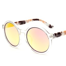 Wholesale 2016 New Sunglasses for men women uv400 protection summer beach glasses cycling fishing driving Round Frame HD Lenses high quality