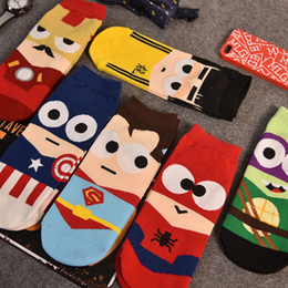 Wholesale Couples socks small size men and women socks socks spring summer boat socks animated cartoon superman low tide cute socks