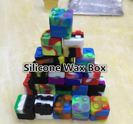 Wholesale New Silicone Containers For Wax Reusable Silicone Wax Box square Silicone box of x30mm solid silicone oil smoke box