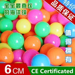 CE Certification Environmental Quality Bobo Ocean Ball 6 cm thickening Manufacturers Selling Children's Ocean Ball Pool