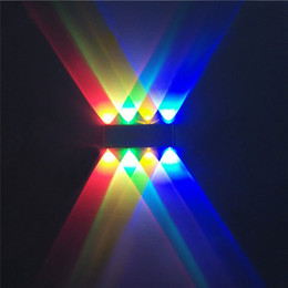 Wholesale High Power Led Wall Sconces W W W Novelty Aluminum Toughened Glass Led Wall Lamps Up Down Modern Indoor Wall Lights REC