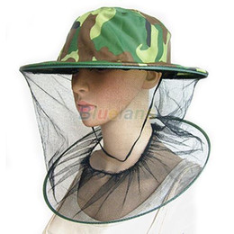 1pcs Mosquito Bug Insect Bee Resistance Net Mesh Head Face Protector Hat Cap Outdoor Cap 0828