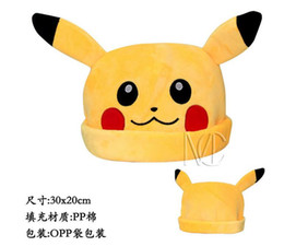 Wholesale 2016 new Pokem plush hat Pokem Pikachu plush hat Animation cartoon warm hat AA