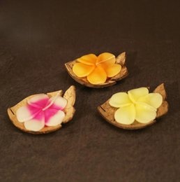Wholesale SPA SPA Deco Small Tealight Holder Handmade candle set Coconuts Shell Candle Set Soap Tray Back to Nature