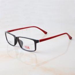Wholesale Spectacle Frames Lady - Unisex Ultra Light TR90 Full-Rim Spectacles Frame Lightweight Fashion Lady Mens Sport Eyeglass Frame Rectangle Optical Frame 6116