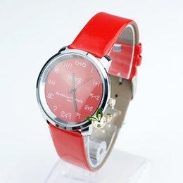 Wholesale promotion analogy creative quartz ladies watch men hours quation scale leather women unisex wrist watch W1773
