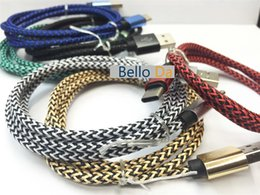 Wholesale 3M10FT nylon cable for Aluminium alloy Braid fabric colourflu nylon date sync charging wire for