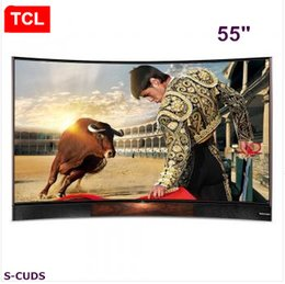 TCL 55 inches Curved surface EDITION high color gamut true 4K Ultra HD smart TV stereo base LCD TV