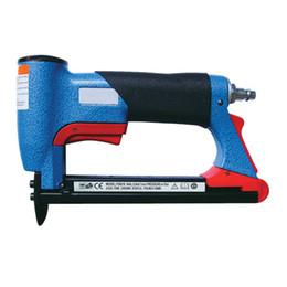 Wholesale Air Stapler FS8016 B quot Fine Crown Pneumatic Stapler GA Air Staple Nails U Style mm BAR psi Staplers Nailer Gun