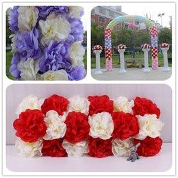 Wholesale EMS Floral wedding bring road lead flowers decoration aritificial silk flowers pavilion arches led flower gardens