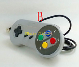 Wholesale 200pcs Classic USB Controller PC Controllers Gamepad Joypad Joystick Replacement for Super Nintendo SF For SNES NES Tablet PC Windows