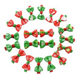 Acheter en ligne Fille accessoires pour cheveux clips-Cute Girls Baby Bow Ruban Hair Clip Kids Bowknot épingle à cheveux Enfants Accessoires cheveux Boutique Décorations de Noël WA1399