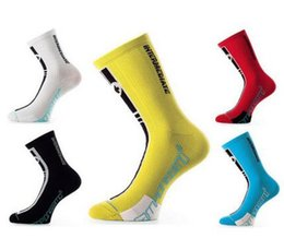 Wholesale Sports professional bicycle riding outdoor sports socks compression wear Long tube running Black white blue red yellow