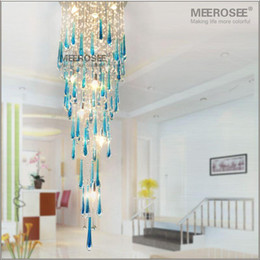 Large staircase chandeliers canada best selling large staircase large staircase chandeliers canada royal blue crystal chandelier light fixture long large crystal lamp for aloadofball Image collections