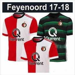 2017-2018 Feyenoord home red white Soccer Jersey 17 18 Feyenoord away Soccer Shirt 2018 Customized football Uniform Sales