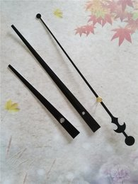 Wholesale 50PCS Large Black Quartz Clock Metal Hands DIY Tool FIT-UP Wall Clock Accessories Free Shipping