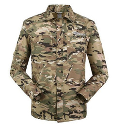 Wholesale-Outdoor Quick-dry camouflage men shirt 2105 summer breathable casual shirt long Sleeve&leg detachable two parts