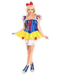 Snow White Halloween costume adult birthday princess Snow White dress ladies dress clothes show queen costume