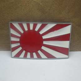 BuckleHome fashion Japan military flag belt buckle with pewter finish FP-03642 with continous stock free shipping