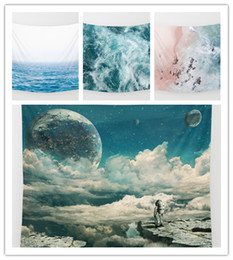 Ocean Sea Tapestry Background Mandala Yoga Home Cloth Beach Towel Living Room Decoration Wall decoration ECO Friendly