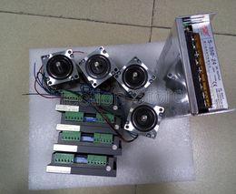 4 Axis CNC control system include 4 pcs stepper motor NEMA 23 (312OZ=2.2NM) +4 pcs stepper driver M542-DSP+A power supply 350W