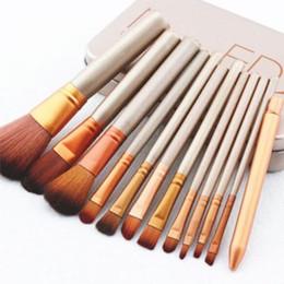 2016 HOT Makeup Brushes 12Pcs Set gold Make Up Cosmetic Brush Kit eye shadow Toiletry beauty appliances makeup brush Iron box