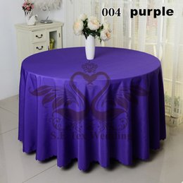 Purple Color Poly Table Cloth For Wedding \ Round For 10 Person Table Cloth