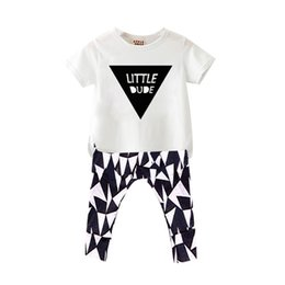 Wholesale Baby Set Kids Suit Children Clothes T SHIRT Pant Short Sleeves NewBorn Clothing Child Apparel Children Costumes