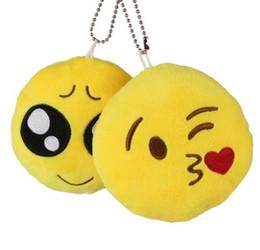 New emoticons QQ plush smiling bags pendant key chain's smile fashion symbol key chain mobile plush doll yellow lanyard mobile QQ hanging mo