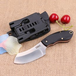 CR K T Fixed blade knife 9Cr18 60HRC Satin Finish Blade Outdoor Camping Hunting Survival knives with ABS K Sheath