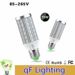 Wholesale 10x Full Watt W Corn Led Bulb High Power E27 E14 Base LEDs No Flicker V Bright LEDs Light Lamp Aluminum PCB Cooling
