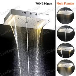 Wholesale Grossiste salle de bains accessoires rideau de douche mm carré chrome tête de douche plafond conduit plafonnier tête de douche