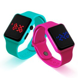 Fashion Candy Color Woman Mens Watch Casual Square Dial LED Digital Silicone Watch For Women Man Sport Watch