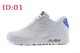 Wholesale New Arrival Mens fashion air sports running shoes America usa flag sports walking casual training shoes sneakers