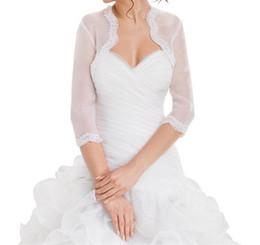 Wedding Bridal Kurtka Koronkowa Top Lace Organza Bolero Shrug Jacket 2016 Stole Shawl Wrap Bolero Jacket