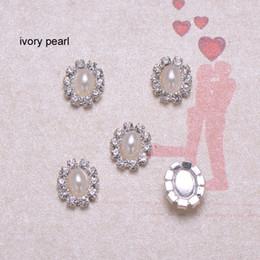(J0007) 9mmX10mm rhinestone embellishment,oval embellishment,ivory or pure white pearl