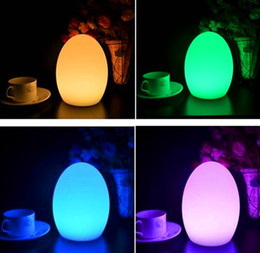 Wholesale LED table lamp tough break bar Rechargeable bright LED egg night for Christmas Halloween holiday