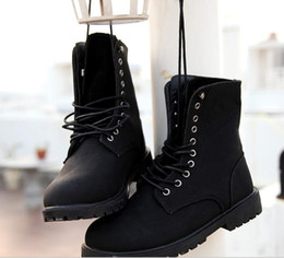 Wholesale Casual Boots Men Leather Boot Retro Combat Boots Male Shoes High Top Shoes Men Motorcycle Military Lace Up Ankle Shoes Autumn Winter