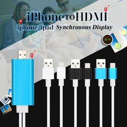 Wholesale High Speed Aluminum HDMI HDTV AV Cable For iPhone S SE S Plus ipad Support HD P connection CAB141