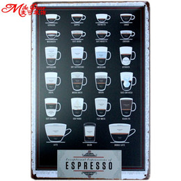 Wholesale Mike86 Expresso Coffee Metal Sign PUB Home bar Decor Vintage Sticker Wall Poster Art CM Mix Items AA