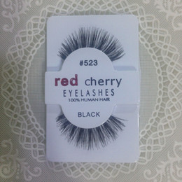 Factory direct export red cherry red cherry handmade Natural false eyelashes Beauty Sale Free shining Synthetic Hair