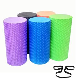 Wholesale Inches High Density Eva Foam Roller with Floating Points for Body Recovery Back Massage with One Free Strap Colors