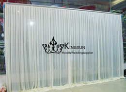 Wholesale Hot Sale Ice Silk Wedding Backdrop Wedding Curtain M M Best Quality