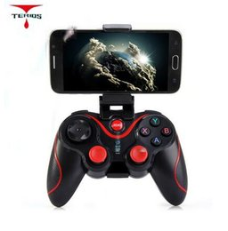 S3 Wireless Bluetooth Gamepad Bluetooth Joystick Gaming Controller Noir pour Android Smartphone Tablet PC Titulaire inclus à partir de fabricateur