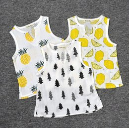 Wholesale Cute Boy Tank Top - INS Tank Tops 2016 Summer Hot Baby Kids Clothing Many Patterns Girls Boys Cotton Sleeveless Tees Cute Children Tees Toddlers Ins Tops 9533