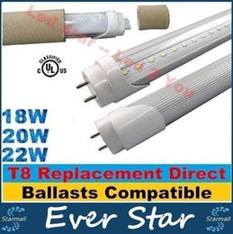 Wholesale T8 Replacement ft Led Tubes Lights Electronic Ballasts Compatible Led Tube W W W High Lumens Replace mm Fluorescent Lamps