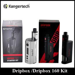 Wholesale Authentic Kanger Dripbox W Kit with KangerTech Dripbox Tank Dripmod Box Mod Wide Bore Drip Tip Black White Red Color