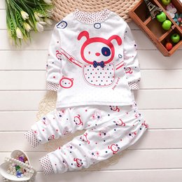 Kids pajamas and pant sets pure cotton suits boys and girls cartoon long sleeve t-shirt and pant sets 2016 autumn hot selling
