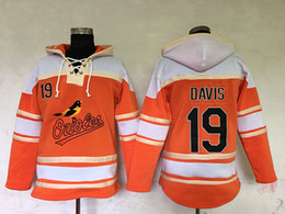 Wholesale Top Quality Cheap Baltimore Orioles Old Time Baseball Jerseys Chris Davis Orange Baseball Hoodie Pullover Sweatshirts Winter Jacket